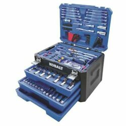 Kobalt 232 PCS Standard SAE and Metric Polished Chrome Mechanics Tool Sets NEW $115.95