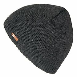 Fleece Lined Beanie Hat Mens For Winter Solid Color Warm Knit Ski Skull Cap New $12.20