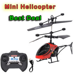 Mini Helicopter for Kids Remote Control Infrared Induction Drone Radio Controll $12.50