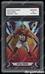 🌟2020 Chase Young Phoenix Fire Burst 1st Graded 10 Redskins Rookie RC Card 🌟 $29.99