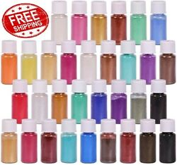 32 Colors Mica Powder Pigment Pure Pearl Epoxy Resin for DIY FREE SHIPPING $21.97