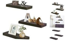 Floating Shelves for Wall Easy to Install Set of 3 5.9quot; Deep Espresso Brown $56.09