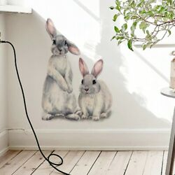 Wall Cute Two Room Sticker Rabbits Removable Children Home Kids Mural Decoration $9.49