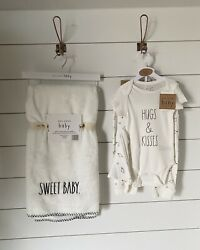 Rae dunn Valentines Baby Shower baby bundle Blanket And Clothes $38.00