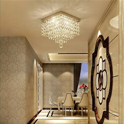 Crystal Chandelier Mordern Ceiling Lamp Hanging Light Pendant Lighting Fixture $39.98