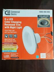 """Commercial Electric 4"""" LED Color changing Recessed Trim With Night Light"""