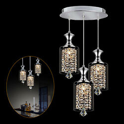 Modern Pendant Light Fixture Chandelier Crystal Ceiling Lamp LED Lighting 3Light $127.02