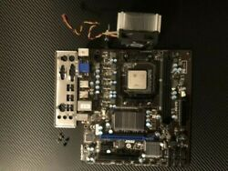 MSI Motherboard with AMD FX Quad Core CPU and Cooler Master Cooling Fan $114.00