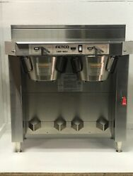 Fetco CBS 62H Stainless Steel Twin Automatic Coffee Brewer 120 208 240V $1150.99