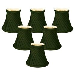 NEW ROYAL Chandelier Silk Twisted Bell Lamp Shades 3quot; x 5quot; x 4.5quot; Set of 6 Black $38.88