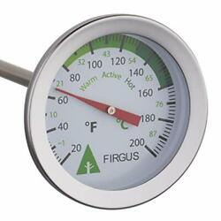 Firgus Compost Thermometer with 20 Inch Soil Probe for Backyard Composting St... $27.62