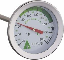 Firgus Compost Thermometer with 20 Inch Soil Probe for Backyard Composting... $26.96