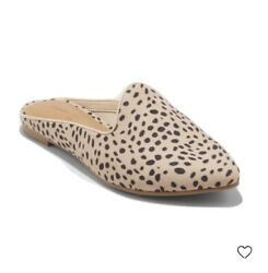 Universal Thread Women#x27;s Violet Woven Backless Leopard Mules Trendy Size 7.5 New $18.95