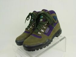 TECNICA TREKKING Women 6 Gray Purple Leather Mountain Hiking Trail Boot Shoes $39.99