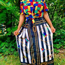 Vintage Colorful Plus Size Polyester Skirt $40.00