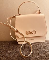 Ted Baker quot;Noveltyquot; Rose Metal Geometric Bow Cross Dusky Pink Body Bag $60.00