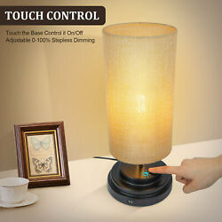 Dimmable Touch Control Bedside Lamp Modern Lamp Nightstand Lamp USB Charging $53.10