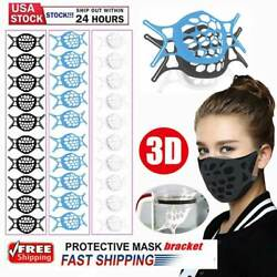 10x 3D Face Mask Bracket Mouth Separate Inner Stand Soft Silicone Holder Frame $9.59