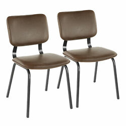 Lumisource Foundry Contemporary Set Of 2 Chair CH FNDY BKE2 $305.00