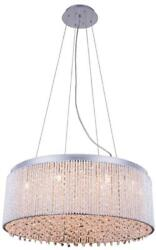 INFLUX PENDANT CONTEMPORARY 14 LIGHT ADJUSTABLE HANGING HEIGHT CHROME WIRE $789.00
