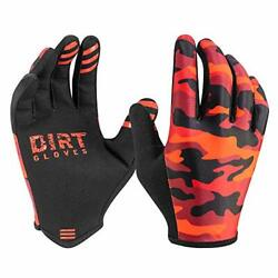 DIRT GLOVES Thin Summer Mountain Bike Gloves MTB Bicycle X Large Red Camo $44.55