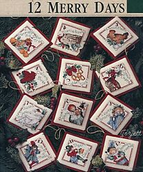 12 Days of Christmas Ornaments cross stitch pattern leaflet $12.95