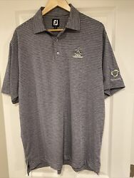 FootJoy Golf Heather Lisle Stripe SS Polo Shirt Mens SZ L 27419 PGA BELLERIVE $20.00