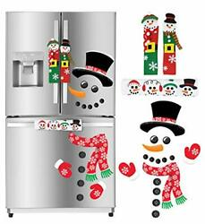 Christmas Kitchen Decorations Snowman Handle Covers Refrigerator Magnets for $25.84