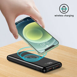 Power Bank 900000mAh Qi Wireless External Battery Charger Portable Fast Charging $18.96