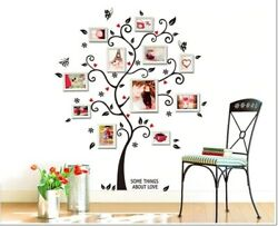Wall Tree Sticker Removable Decal Family Quote Frame Frames Vinyl Decor Home H $7.99