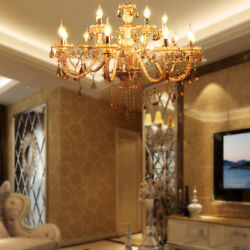 Luxurious Crystal Chandelier Light E12 15 Arms K9 Crystal Ceiling Pendant Lamp $167.99