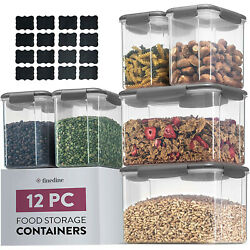 12 PCS Airtight Food Storage Containers With Lids BPA FREE Clear Plastic Kitchen $25.99