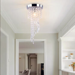 Crystal Chandeliers Lighting Hanging Lamp Modern Pendant Ceiling Lights Fixture $28.99