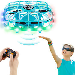 Hand Controlled Mini Drone Kids Flying Ball Toy Colorful Light Upgraded Sensors $23.70