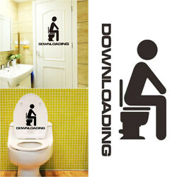 Wall Stickers Removable Black Waterproof Wall Decorations for Toilet Bathroom $5.09