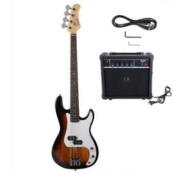 Basswood Bass electric guitar set four strings with sound keys $196.98