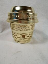 New Old Stock Brass Aladdin style Burner Base and Gallery to Electrify $15.00