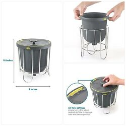 Polder Kitchen Composter Flexible silicone bucket inverts for emptying and clean $43.26