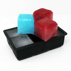 Ice Maker Large Cube Square Tray Molds Whiskey Ball Cocktails Silicone Big US $6.99
