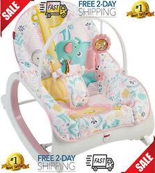 Infant to Toddler Rocker Pink Baby Seat Swing Chair Bouncer For New Born $89.99