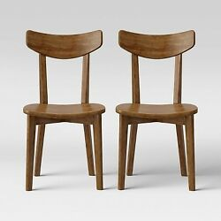 2pk Astrid Mid Century Dining Chairs Wood Seat Walnut Project 62 $119.00