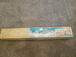 VINTAGE HOUSE OF BALSA KIT OF THE MESSERSCHMITT ME 109 E 1 2A STAND OFF SCALE $51.00