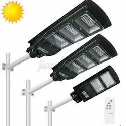 990000LM Solar LED Street Light Commercial Outdoor Security Road Lamp W Remote