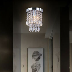 Crystal Light Fixture Hanging Ceiling Lamp Modern Chandelier Pendant Lighting $25.88
