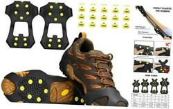 Ice amp; Snow Grips Traction Cleat Anti Slip 10 Stud Crampons for Medium $18.75