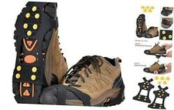 Ice Snow Grips Over Shoe Boot Traction Cleat Spikes Anti Slip Footwear 0 Size:M $11.36