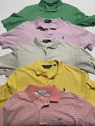 Mens Lot of 5 Polo Ralph Lauren 4 Southern Tide 1 Short Sleeve Cotton Polo $29.99
