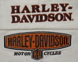 Mens Lot of 2 White Harley Davidson Mechanic S S Button Up Shirt size XL $40.00