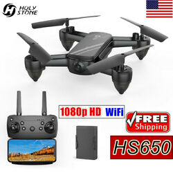 Holy Stone HS650 RC Drone With 1080P HD Camera WiFi FPV Quadcopter Foldable Gift $49.99