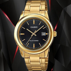 Casio MTP VS01G 1A Men#x27;s SOLAR POWER Gold Tone Stainless Steel Date Watch $39.95